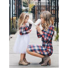 Mamma och mig Pläd Matchande Klänningar