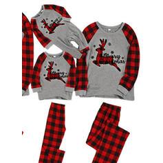 Jelen Kostkovaný Rodinné odpovídající Vánoční pyžama