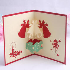 Christmas Colourful Multi-functional Delicate Reindeer Christmas Card Paper Greeting Cards (Sold in a single piece)