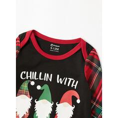 サンタ チェック 文字 マッチングファミリー クリスマスパジャマ