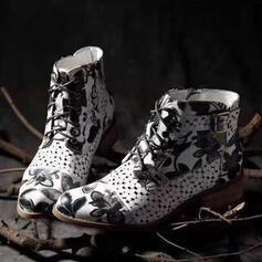 Vrouwen PU Chunky Heel Laarzen Enkel Laarzen Puntige teen met Gesp schoenen