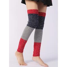 Colore solido/Cucitura Caldo/traspirante/Confortevole/Da donna/Scaldamuscoli/Calzini del polsino dello stivale Calzini/calze autoreggenti
