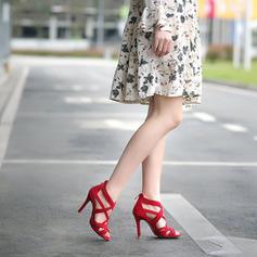 De mujer Cuero Tacón stilettos Sandalias Encaje zapatos