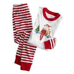 Cu Dungi Imprimeu De Familie Pijamale De Crăciun