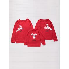 Rena Família Combinando Moletons Camisolas