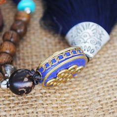 La modă exotic Classic Aliaj Mărgele din lemn Femei colier de moda