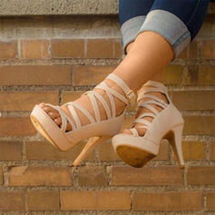 De mujer PU Tacón stilettos Sandalias con Hebilla zapatos
