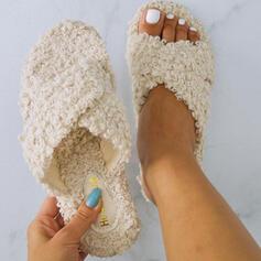 De mujer Tejido Tacón plano Encaje Pantuflas con Piel Otros zapatos