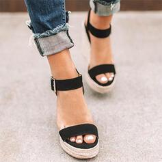 Camurça Plataforma Sandálias Calços com Outros sapatos