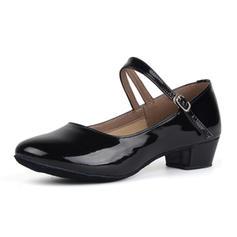 Femmes Chaussures de Caractère Talons Similicuir avec Boucle Latin