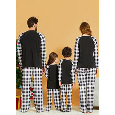 Soby Kostkovaný Dopis Rodinné odpovídající Vánoční pyžama