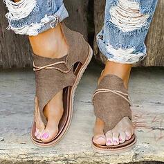 Kvinder PU Flad Hæl sandaler Fladsko Kigge Tå Flip Floppere med Lynlås sko