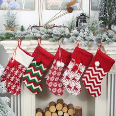 Merry Christmas Hanging Gift Bag Knit Apple Bags Christmas Stocking