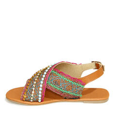 PU Επίπεδη φτέρνα Σανδάλια Ανοιχτά σανδάλια toe Με Διαχωρισμένη άρθρωση παπούτσια