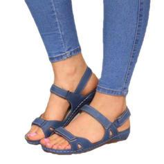 De mujer Cuero de Microfibra Tipo de tacón Sandalias Encaje con Hebilla Velcro zapatos