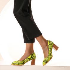 De mujer PU Tacón ancho Salón con Estampado de animales zapatos