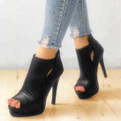Dámské PU Jehlový podpatek Lodičky S Vydlabaný Solid Color obuv