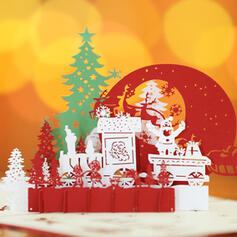 Christmas Colourful Multi-functional Delicate Christmas Tabletop Card Paper Greeting Cards (Sold in a single piece)