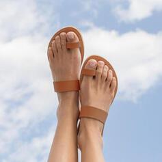 Γυναίκες PU Επίπεδη φτέρνα Σανδάλια Σαγιονάρες Με Κουκούλα-έξω παπούτσια