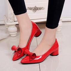 De mujer PU Tacón bajo Salón Cerrados con Bowknot zapatos