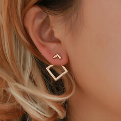 Stylish Simple Alloy Earrings (Set of 2)