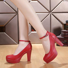 Mulheres Salão de Baile sapatos de personagem Saltos Couro verdadeiro Salão de Baile