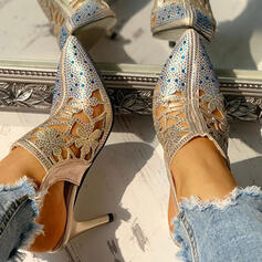 Bayanlar PU Topuklu ayakkabı Pompalar Ile Yapay elmas Toka ayakkabı