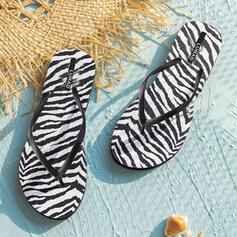 De mujer PVC Tacón plano Sandalias Chancletas Pantuflas con Estampado de animales Carta zapatos