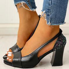 De mujer PU Tacón ancho Encaje con Otros zapatos
