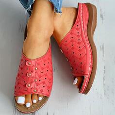 Επίπεδη φτέρνα Ανοιχτά σανδάλια toe Παντούφλες Με Στερεώ Κουκούλα-έξω παπούτσια