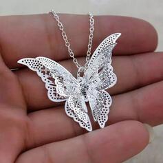 De la mariposa Suerte Aleación con De la mariposa De mujer Collares Cinturón de cadena Collar de gargantilla