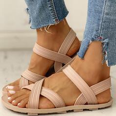 Bayanlar PVC Düz topuk Sandalet Peep Toe ayakkabı