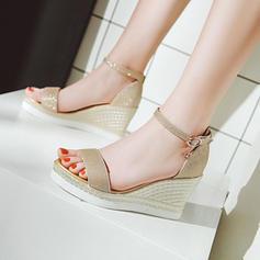 Pentru Femei Sclipici Sclipitor Platforme Înalte Încălţăminte cu Toc Înalt Platformă Platforme Puţin decupat în faţă cu Cataramă pantofi