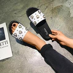 Bayanlar PVC Düz topuk Terlik Ile Yapay elmas ayakkabı