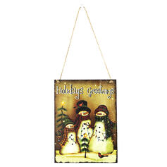 Wooden Tree Hanging Ornaments Door Hanging Christmas Ornements Home Accents (Sold in a single)