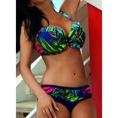 Blommig Tryck Rem Sexig bikini Badkläder