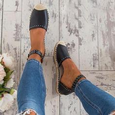 Dla kobiet Skóra ekologiczna Płaski Obcas Sandały Z Klamra obuwie