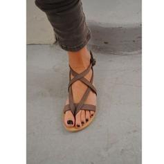 De mujer Ante Tacón plano Sandalias Planos con Hebilla zapatos