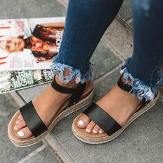 PU Επίπεδη φτέρνα Σανδάλια Ανοιχτά σανδάλια toe Με Πόρπη Αποτύπωμα ζώου παπούτσια