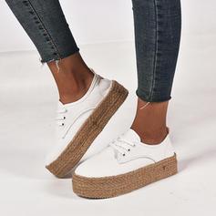 Donna Tela Zeppe Zeppe scarpe
