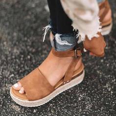 De mujer Cuero Tacón plano Sandalias Plataforma con Otros zapatos