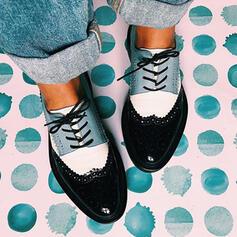 Vrouwen PU Flat Heel Flats met Vastrijgen Las kleur schoenen