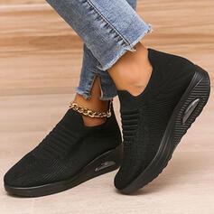 Femmes Tissu Mesh Talon plat Chaussures plates Tennis avec Dentelle Élastique Inmprimé chaussures