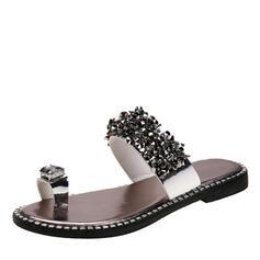 Γυναίκες PVC Επίπεδη φτέρνα Σανδάλια Παντούφλες Με Πούλια παπούτσια