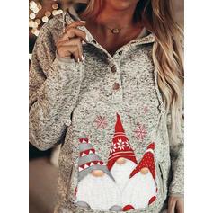 Nyomtatás Dlouhé rukávy Vánoční mikina