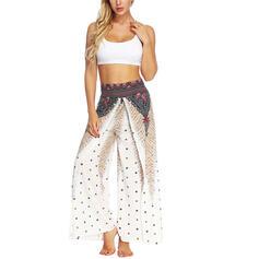 Sin mangas Impresión Floral Pantalones deportivos