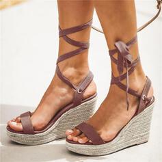 De mujer PU Tipo de tacón Sandalias Encaje con Cordones zapatos