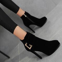 De mujer Ante Tacón stilettos Botas Botas al tobillo con Color sólido zapatos