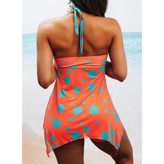 Dot Print Halter Sexy Tankinis Swimsuits
