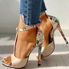 De mujer Tela Tacón stilettos Salón Encaje con Estampado de animales zapatos